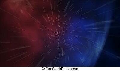 Flying Through Galaxy orb. HD Resolution