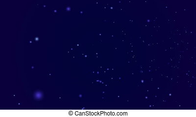 Flying through starfield, hd