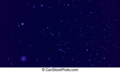Flying through starfield, hd