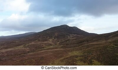 Flying through the bluestack mountains towards Carnaween in Donegal - Ireland