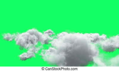 Flying through the clouds. 3D Render.