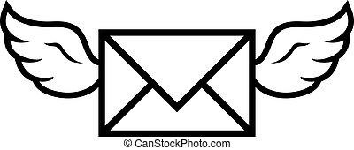 Flying Wings Mail Envelope vector