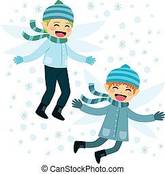 Flying Winter Elves