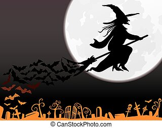 Flying Witch background illustration