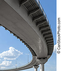 Flyover - High overpass on the sky background