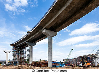 Flyover - Elevated road construction