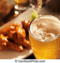 flytande, öl