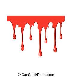 flytande, blod, ikon