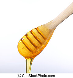 flytande, honung