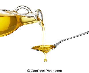 flytande, olja