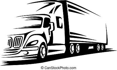 flyttningen åker lastbil