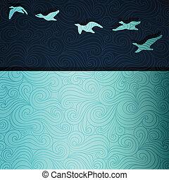 flyve, gåser