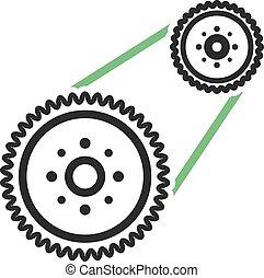 Flywheel - Car, engine, automotive icon vector image. Can ...