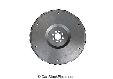 flywheel for automotive diesel engine on a white background