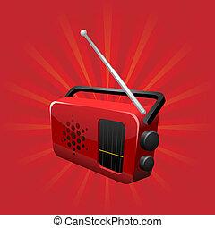 fm radio - vector illustration of a fm radio