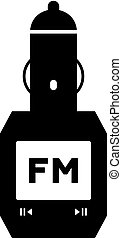 FM transmitter icon - FM transmitter, shade picture