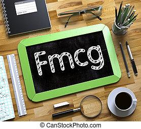 fmcg, conceito, ligado, pequeno, chalkboard., 3d.