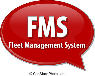 FMS acronym word speech bubble illustration - word speech...