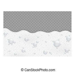 Foam background with bubbles