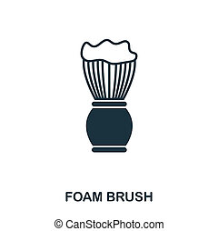Foam Brush icon. Flat style icon design. UI. Illustration of foam brush icon. Pictogram isolated on white. Ready to use in web design, apps, software, print.
