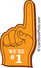"Foam Finger - Sports Fan's ""We're #1"" Foam Finger"