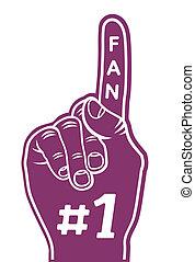 foam finger - fan finger
