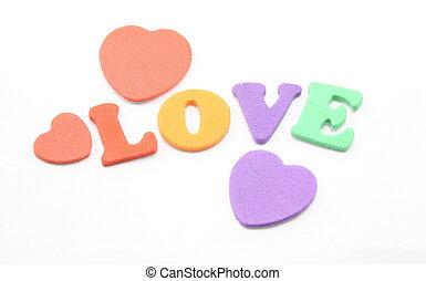 Foam Letters Spell Love