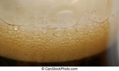 cola - foam of cola