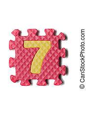 Foam puzzle number