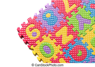 Foam puzzle numbers and letters