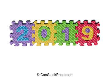 Foam puzzle year