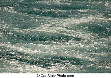 foamed blue water background