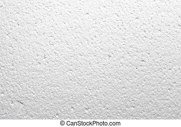 Foamed polystyrene for background usage