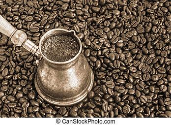 Foaming coffee