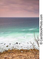 Foamy coast at Ruegen island at Cap Arkona, Germany - Foamy ...