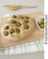 Focaccia bread with rosemary