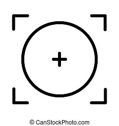 Focal point or focus icon design. Vector illustration