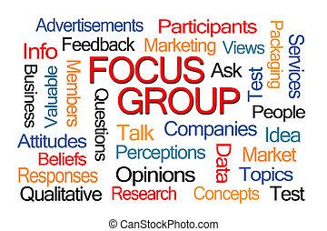 focalizzi gruppo, parola, nuvola