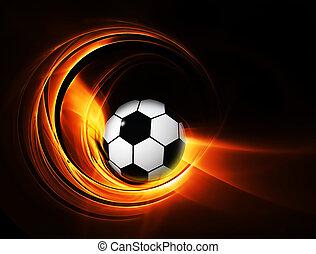foci futball, labda, égető