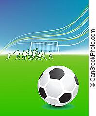 foci játékos, képben látható, mező, focilabda