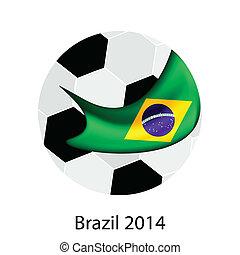 focilabda, és, brazil zászló, közül, 2