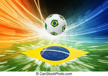 focilabda, és, lobogó, közül, brazília
