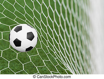 focilabda, alatt, gól, háló