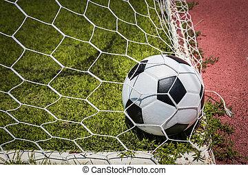 focilabda, alatt, gól