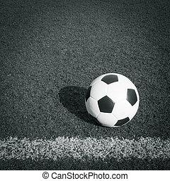 focilabda, alatt, gól, siker, fogalom