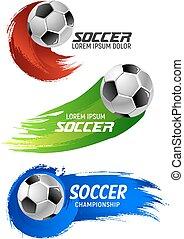 focilabda, foci játék, tervezés, sport, transzparens
