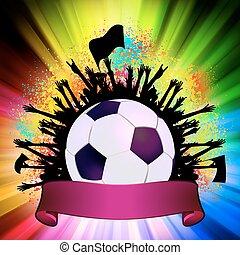 focilabda, (football), képben látható, grunge, háttér., eps, 8
