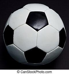 focilabda, képben látható, fekete
