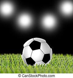 focilabda, képben látható, mező