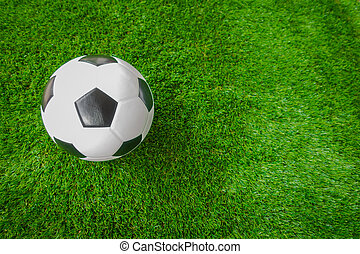 focilabda, képben látható, zöld fű, .